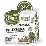 Wild Zora Mediterranean All Natural Lamb & Organic Veggie Bars (10 pack)-AIP-friendly, No Nightshades, Gluten-Free, No Antibiotics, No Added Hormones