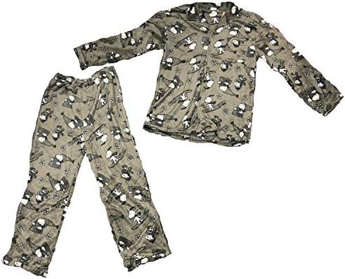 メンズ 紳士 スヌーピ SNOOPY パジャマ 長袖 前開き 秋 冬向き もこもこ マイクロフランネル