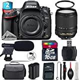 Holiday Saving Bundle for D610 DSLR Camera + 18-140mm VR Lens + 2yr Extended Warranty + 16GB Class 10 + Case + UV Filter + Cleaning Kit + Cleaning Brush + Card Reader - International Version