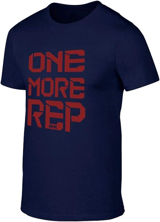 GO HEAVY Camiseta para Fitness Hombres Deporte One More Rep ...