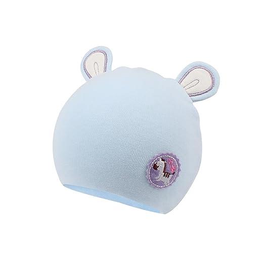 Amazon.com  XIAOHAWANG Organic Cotton Baby Beanies Newborn Hat (Blue ... 555cfa543fe
