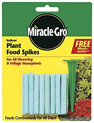 Miracle-Gro 1002521 Indoor Plant Food Spikes, 1.1-Ounce