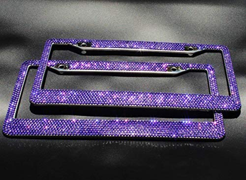 license plate frame purple bling - 3