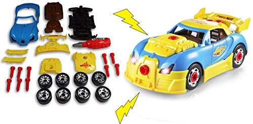 30 Construction Piece Set (Take Apart Car Kit For Kids Build Your Own Toy Car with This 30 Piece Constructions Set (Car))