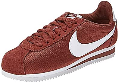 Nike Women's Wmns Classic Cortez Nylon Competition Running Shoes, Multicolour (Red Sepia/White 203), 5 UK