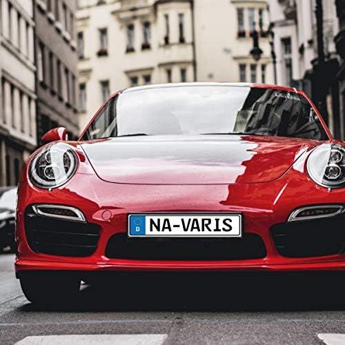Navaris Kfz Kennzeichenhalter Für Europäische Standard Kennzeichen 52 X 11cm Auto Nummernschild Halterung Autokennzeichen Halter In Schwarz Auto