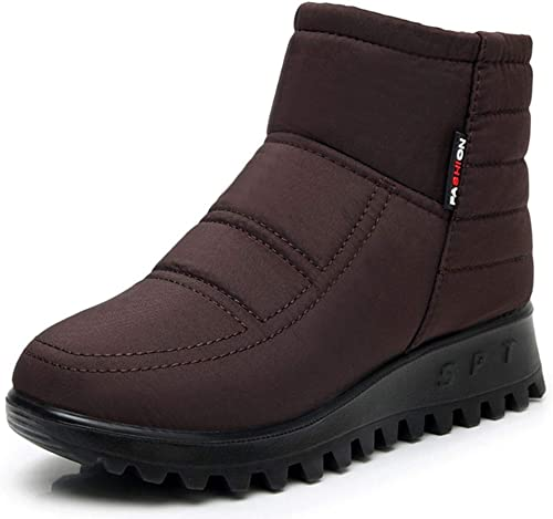 US Women Winter Snow Shoes Non-slip Outdoor Boots Fur Lined Warm Boots Size 6-10