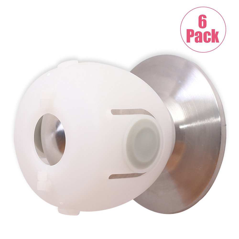 EUDEMON 6 Pack Baby Safety Door Knob Covers Door Knob Locks
