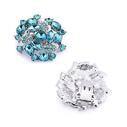Cristales 2 Clips Embragues ElegantPark Mujer's Azul Amanda Vestido Sombrero AM Zapato Pcs 6008xwqE