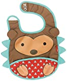 Skip Hop Zoo Infant and Toddler Tuck-Away Bib, Hudson Hedgehog, Multi