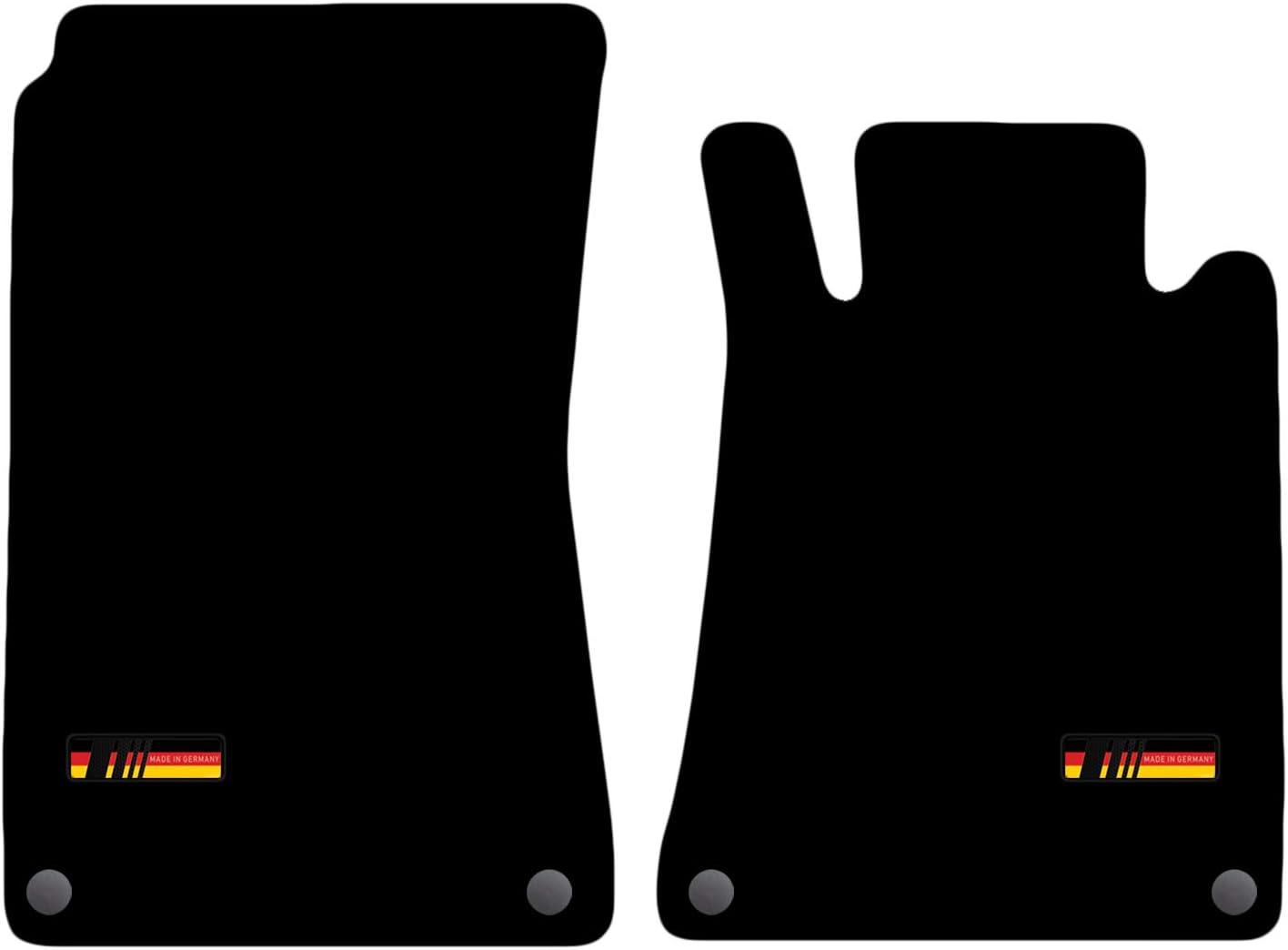 Carsio Alfombrillas a Medida para Mercedes SLK 2004 a 2011 con Logo