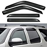 VioletLisa New 4pcs For 97-13 Expedition Wind Dark Smoke Out-Channel/Outside Mount Style Wind Sun Rain Guard Vent Shade Deflector Window Visors