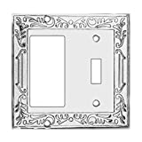 Victorian Switch Plate GFI Toggle Chrome Brass | Renovator's Supply