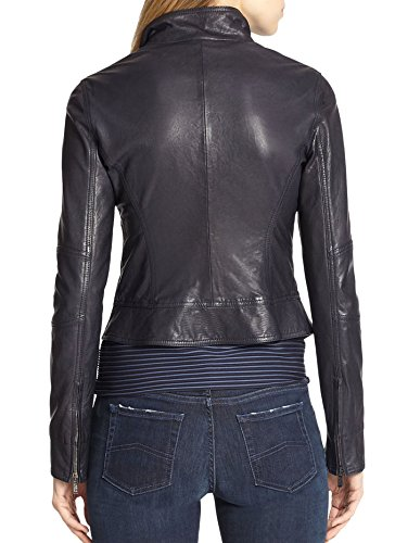 Junction Leather Donna Nero Junction Giacca Leather OEnv8gwqE