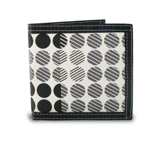 Generic Men's Bifold Screen Print Canvas Dot Pattern (Bi Fold Screen Print Wallet)