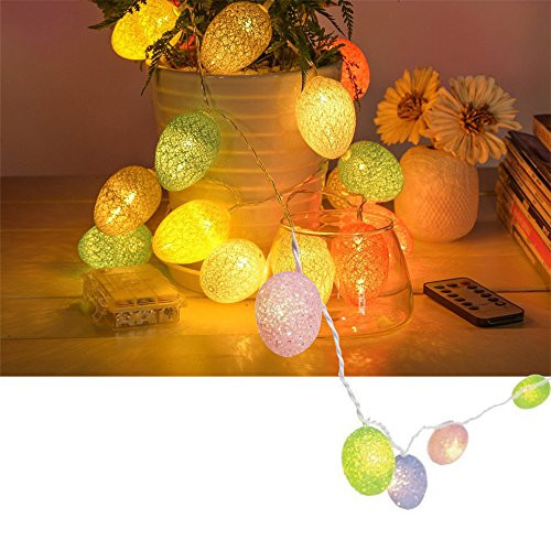 Nicemax Easter Egg Lights String 20 Led 11ft Battery Powered Fairy String Lights for Holiday Party Home Decor