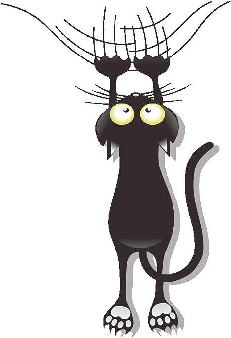 Adhesivo decorativo para puerta del coche, diseño de gato con gato para rascar, escalada, coche, estilo bolígrafo de vinilo