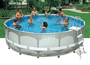 Perfect Intex Above Ground 16ft X 48in Ultra Frame Swimming Pool Set