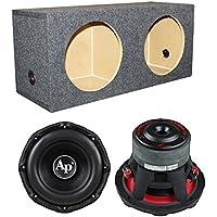 Audiopipe TXX-BD3-10 10 2800W Car Audio Subwoofers + Dual Sealed Sub Box