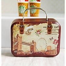 1/6 Barbie Blythe Size Birdge Doll Dollhouse Miniature Toy Trunk Box Suitcase Luggage Traveling Case