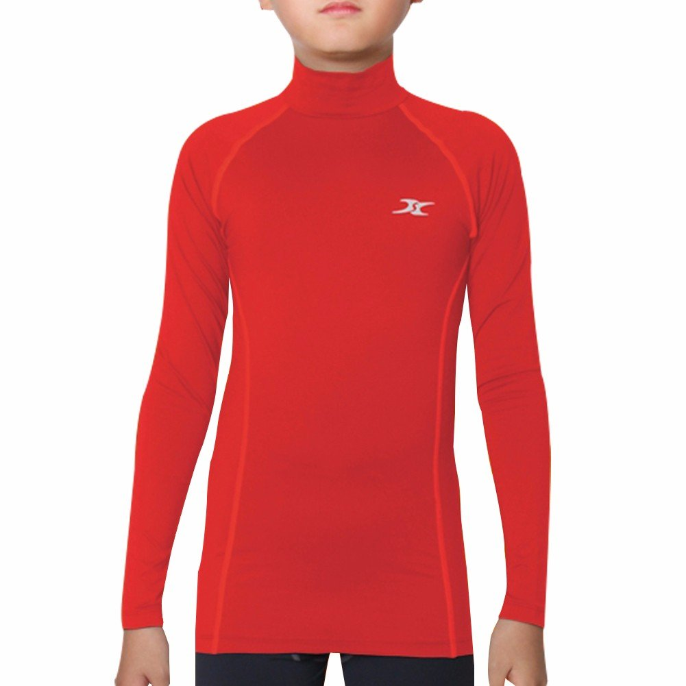 Thermal Underwear Kids Mock Turtleneck Shirts Compression Tops Base Layer NLK Henri maurice