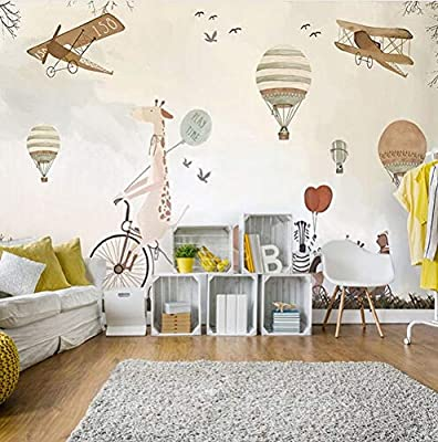 NXMRN Wholesale light cream kidslike freedom fly mural wallpaper ...