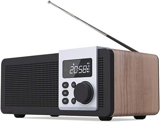AWJ Bluetooth Radio Digital de madera Reloj Despertador FM ...
