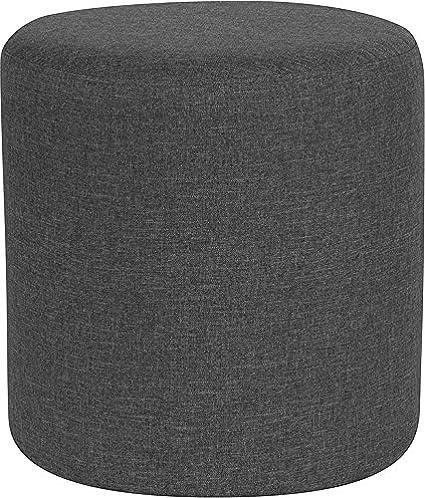 Pleasing Amazon Com Emma Oliver Taut Upholstered Round Ottoman Inzonedesignstudio Interior Chair Design Inzonedesignstudiocom