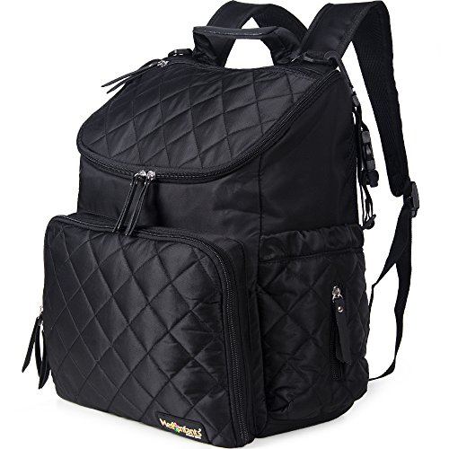 Yoler Multi-Function Diaper Bag Black Backpack Large Capacit