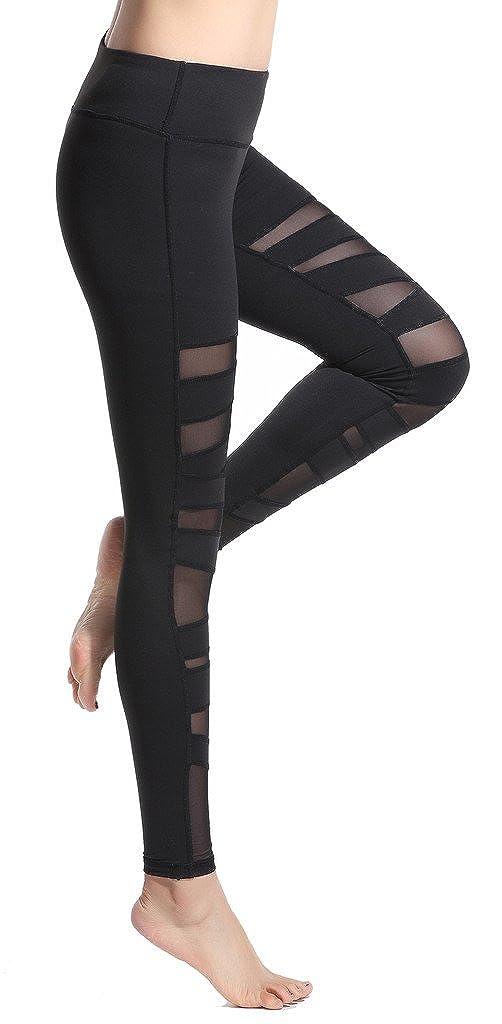 Lotus Instyle Damen Sports Leggings Yoga Laufen Hose mit Netze