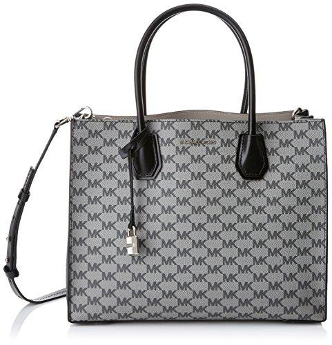 2acc00099154 Michael Kors Womens Mercer Faux Leather Convertible Tote Handbag Black Large  (B01KKUI22M)