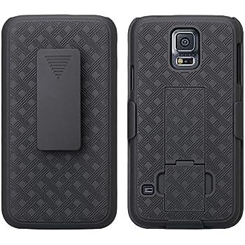 huge selection of 60632 8d6e0 Amazon.com: Encased Galaxy S5 Belt Clip Case - Slim Grip (DuraClip ...