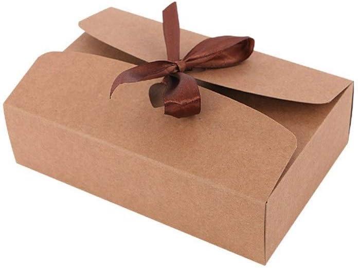Caja de Regalo Caja de Papel Kraft de Encargo rectangulares Calcetines Pajarita de Regalos empresariales Cuadro de la Ropa Interior de la caja-10pcs (Color : Kraft Paper, Size : 17.5x11.5x5cm): Amazon.es: Hogar