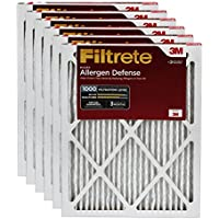 Filtrete MPR 1000 14 x 30 x 1 Micro Allergen Defense HVAC Air Filter, Uncompromised Airflow, Delivers Cleaner Air Throughout Your Home, 6-Pack