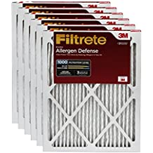 Filtrete MPR 1000 14 x 20 x 1 Micro Allergen Defense HVAC Air Filter, Attracts Small Particles like Pollen & Pet Dander, Delivers Cleaner Air Throughout Your Home, 6-Pack