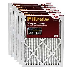 Filtrete Micro Allergen Defense Filter, MPR 1000, 16 x 25 x 1-Inches, 6-Pack