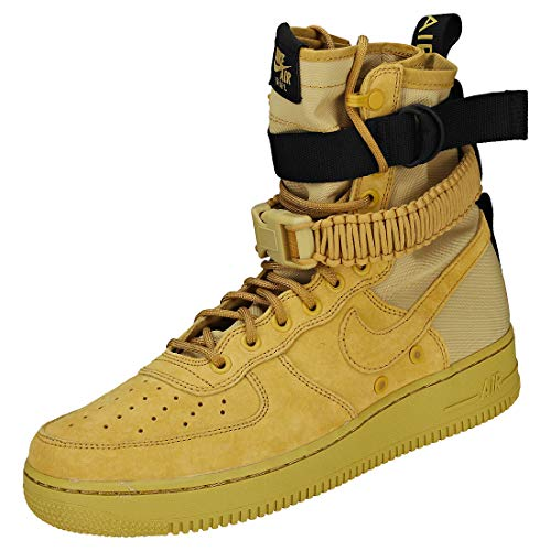 Nike Herren Men's SF Air Force 1 Shoe Gymnastikschuhe Mehrfarbig (Club Gold/Club Gold/Club Gold/Black 001)