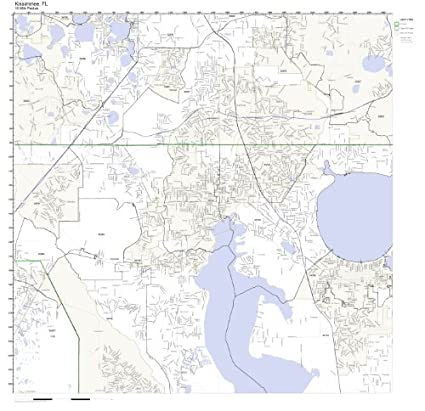 Amazon Com Kissimmee Fl Zip Code Map Laminated Home Kitchen