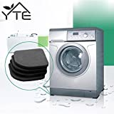 laundry machine pads - 4 Pcs Anti Vibration Pads Washer Anti Vibration Pads Washing Machine Anti Vibration Pad Shock Proof Non Slip Foot Feet Tailorable Mat Refrigerator Floor Furniture Protectors by Generic
