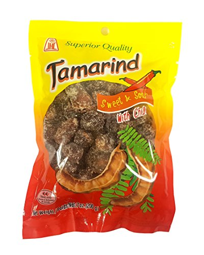 Thai Tamarind Sweet & Sour Candy With Chili Whole Pod (93% Tamarind) 7 Oz.