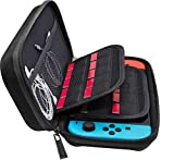 (20 Cartridge) Nintendo Switch Hard Carrying Case, Switch Games Deluxe Hardshell Protective Travel Storage Bag with 20 Game Cart Slots and Soft Inner Padding Design Carry Case