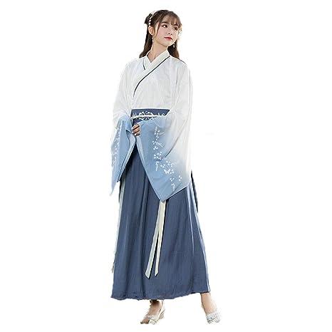 YCWY Hanfu Chino Antiguo de la niña, Vestido Chino de época ...