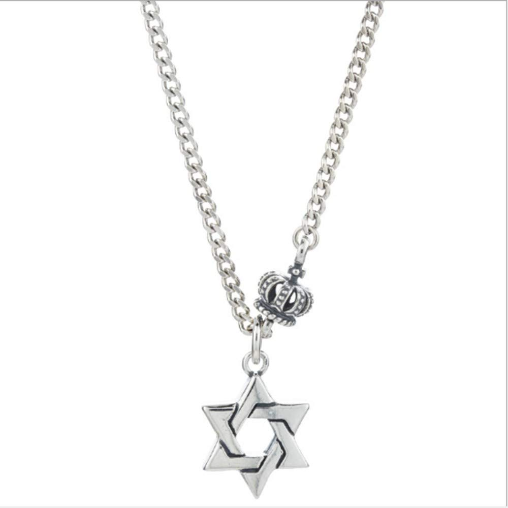 SONGBB necklace Vintage Craft Six Mans Star Crown Necklace Jewelry