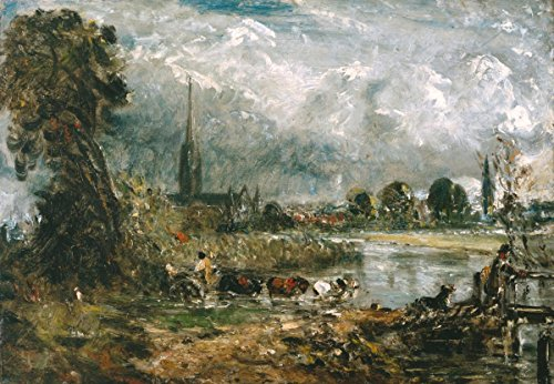 Quality Prints - Laminated 21x14 Vibrant Durable Photo Poster - Anne Lyles, Sublime Nature John Constables Salisbury Cathedral from The Meadows (John Constable Salisbury Cathedral From The Meadows)