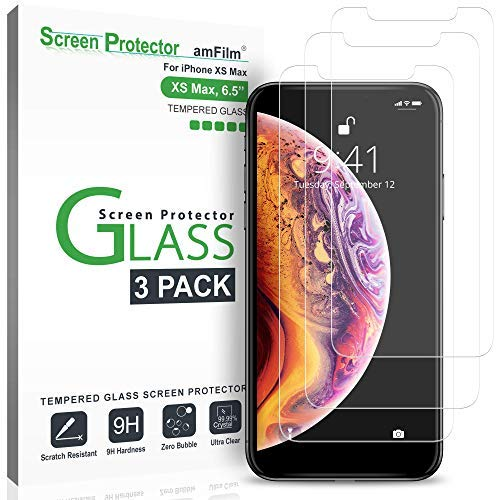 445158bf209 Image Unavailable. Image not available for. Color: amFilm Glass Screen Protector  for iPhone ...