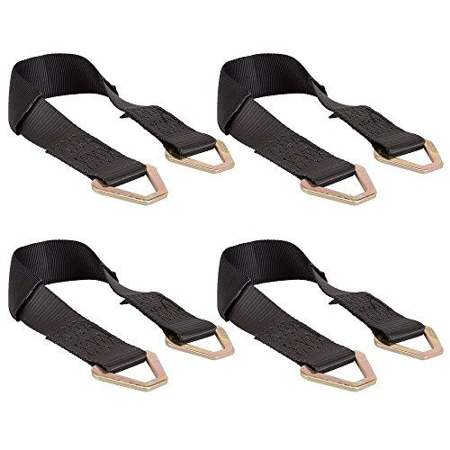 """4-Pack of 2"""" x 24"""" Axle Tow Wrecker Tie-Down Straps (Bundle)"""