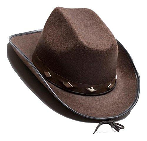 Jacobson Hat Company Men's Felt Studded Cowboy Hat, Brown, Adult