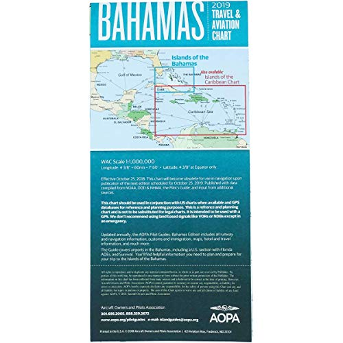 bean Color WAC Scale VFR Charts, Bahamas Turks Caicos Chart ()