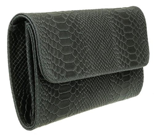 Gris femme Pochettes Girly Fonc Handbags qYwRSwftTx