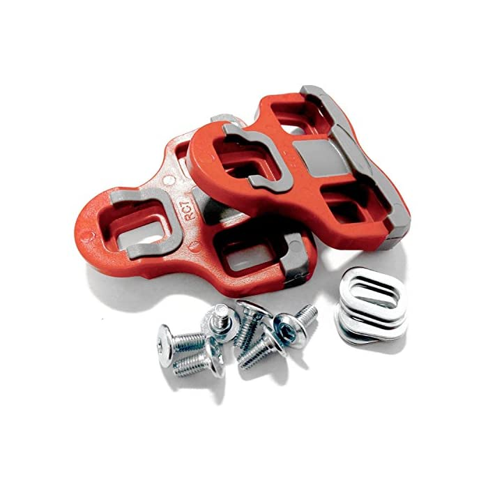 Velochampion Cleats Compatible con El Modelo 'Look Keo' Grip Pedal 6 Degree Float Rojo